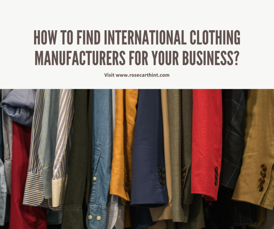international clothing manufacturers